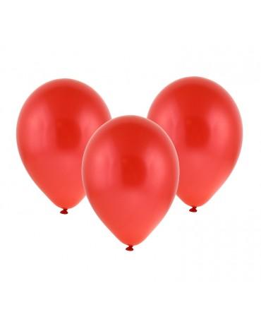 """Metalické balóny červené 12"""" 100ks"""