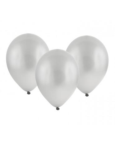 """Metalické balóny strieborné 12"""" 100ks"""