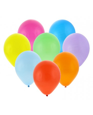 """Pastelové balóny rôznofarebné 10"""" 100ks"""