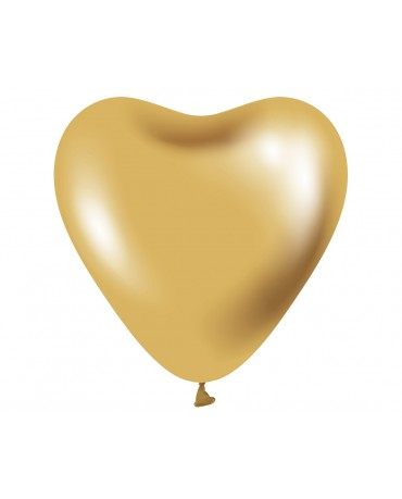 "Balóny zlaté srdcia 12"" 6ks"