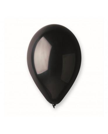"""Latexové balóny pastelové - čierne 10"""" 100ks"""