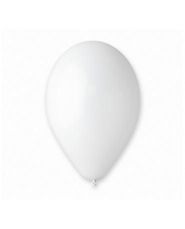 """Latexové balóny pastelové - biele 10"""" 100ks"""