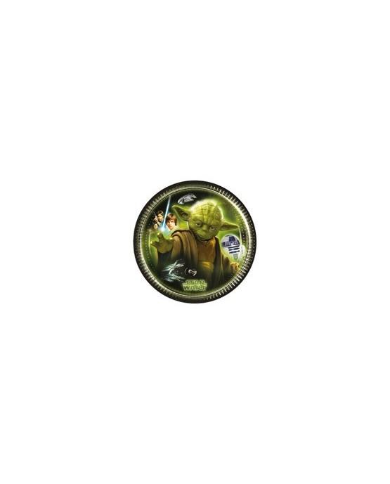 Tanieriky Star Wars -zelené 20 cm - 8 ks/P200