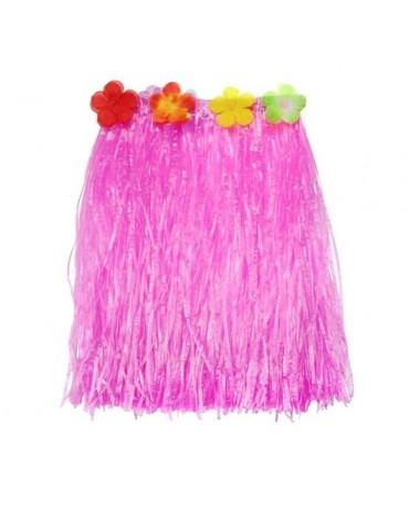 Havajská sukňa - ružová- veľkosť S