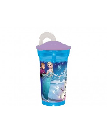 Plast. pohár so slamkou Frozen 350 ml