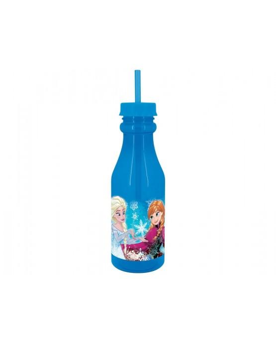 Plast. fľaša so slamkou Frozen 500 ml