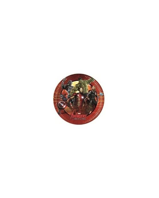 Tanieriky s motívom Avengers 2 20 cm - 8 ks/P219