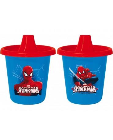 Cestovné plast. hrnčeky Spiderman 2x225 ml