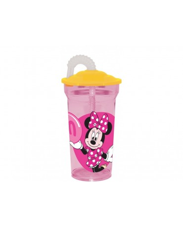 Plast. pohár so slamkou Minnie Mouse 350 ml