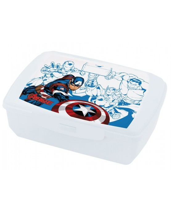 Plast. box na jedlo Avengers- Cap. America 20x13 cm