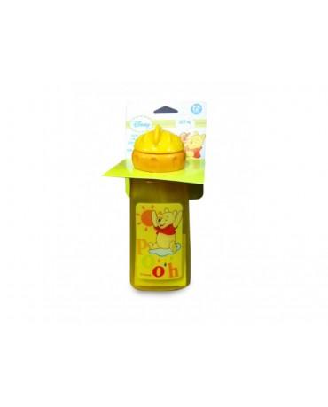 Plast. fľaša Macko Pu - oranžová 375 ml