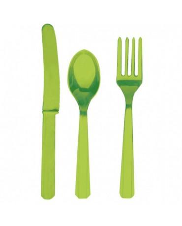 Plastové príbory -zelené 24ks