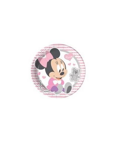 Tanieriky Malá Minnie 23 cm - 8 ks