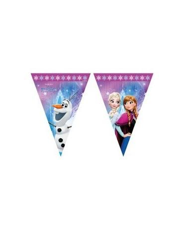 Banner vlajok - Frozen - ružový okraj 2,3m