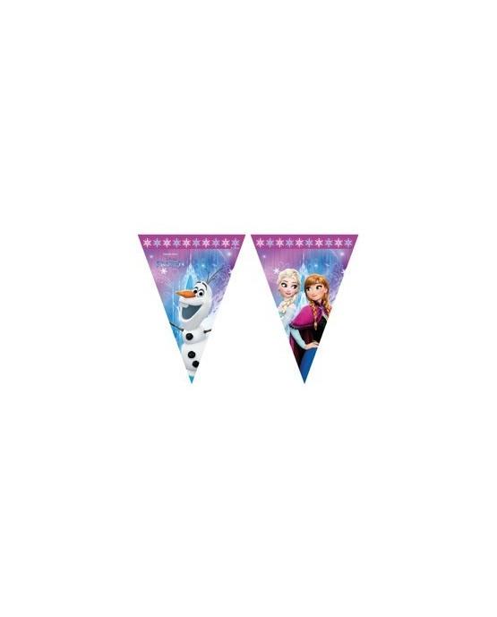 Banner vlajok - Frozen - Ľadové kráľovstvo - ružový 230cm 1ks/P126