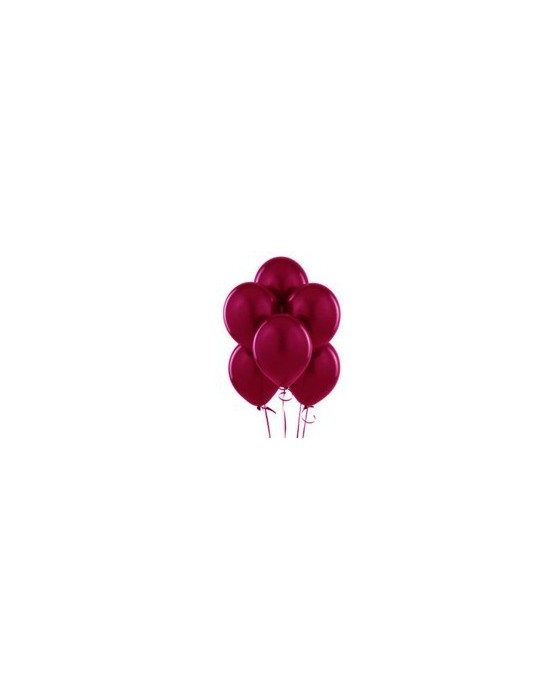 "Latexové balóniky pastelové 12"" - bordové 10ks 37cm/P17"