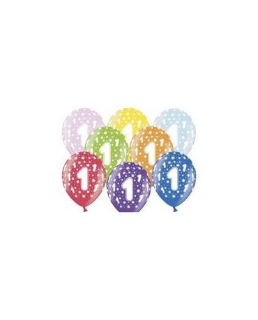 Latexové balóny číslo 1- hviezdy -30cm 10ks