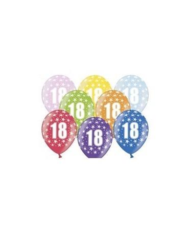 Latexové balóny číslo 18- hviezdy -30cm 10ks