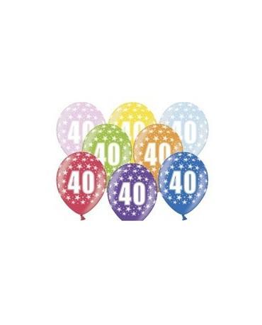 Latexové balóny číslo 40-hviezdy 30cm 10ks