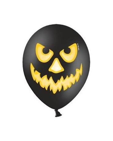 Latexové balóny - tekvica - čierne 30cm 10ks