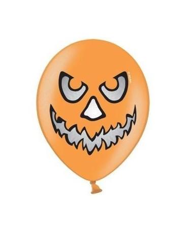 Latexové balóniky Strašidelná tekvica - oranžové 10ks 37cm/P44