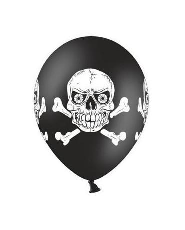 Latexové balóny Strašidelná lebka 30cm 10ks