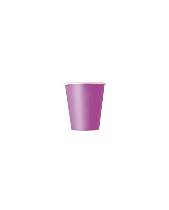Papierové poháre - fialové 266 ml 8ks/P104