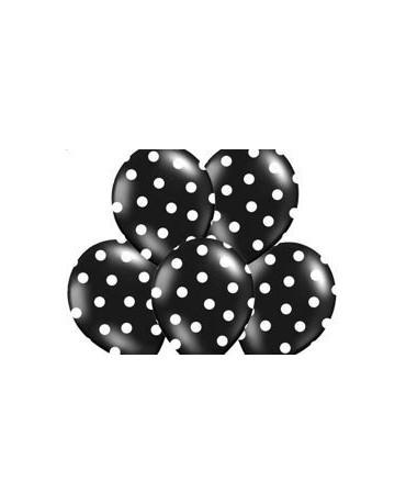 Latexové balóny čierne -biele bodky  30cm10ks