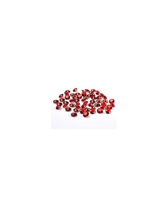 Diamantové konfety - bordové 12mm 100ks/P181