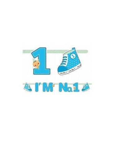 Banner I´m No.1 - modrý 1,1m