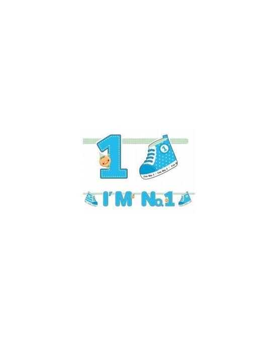 Banner I´m No.1 - modrý 110cm/P146