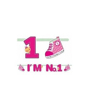 Banner I´m No.1 - ružový 110cm/P146