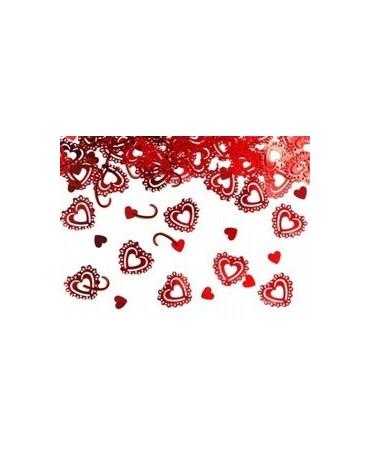 Konfety srdcia - červené 1,5 cm - 15 g