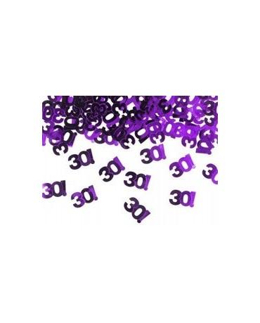 Konfety číslice 30 - fialové 15 g