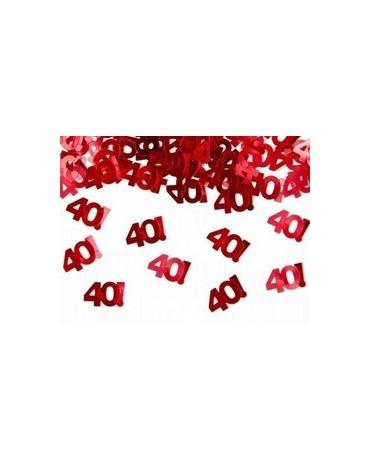 Konfety číslice 40 - červené 15 g
