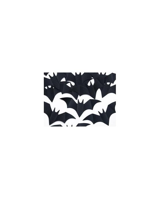 Konfety v tvare netopierov - čierne 10ks/P66