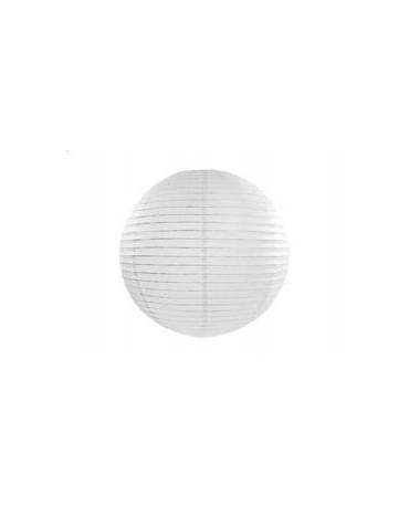 Dekorácia- lampión- biela lopta 25cm