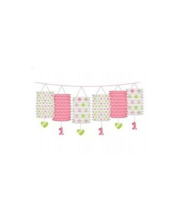 Girlanda - ružové lampióny 3,6m