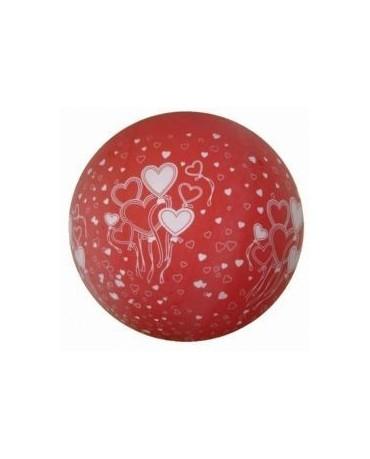 Obrovský latexový balón - červený s podtlačou sŕdc 100cm  1ks/P27