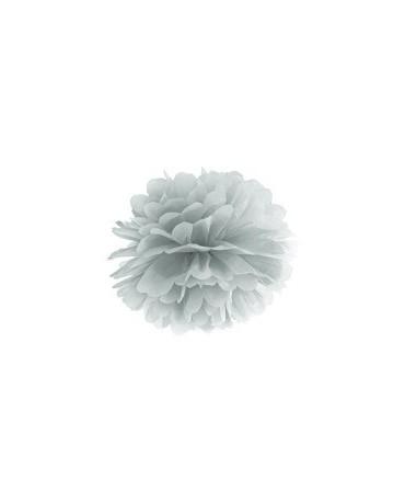 Visiaca dekorácia kvet -strieborný 35cm 1ks/P3