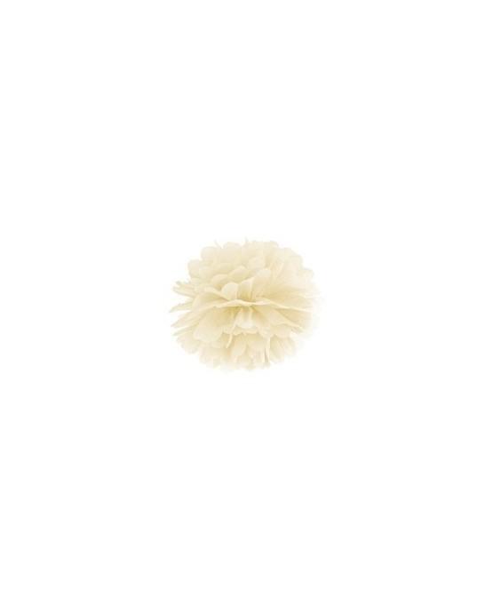 Visiaca dekorácia kvet - krémový 35cm 1ks/P3