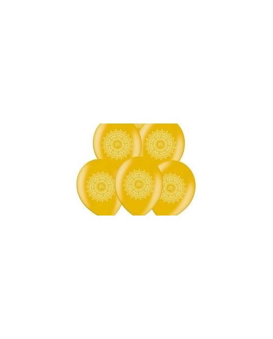 Latexový balón- zlatý - 1.sv. prijímanie 10ks/P43