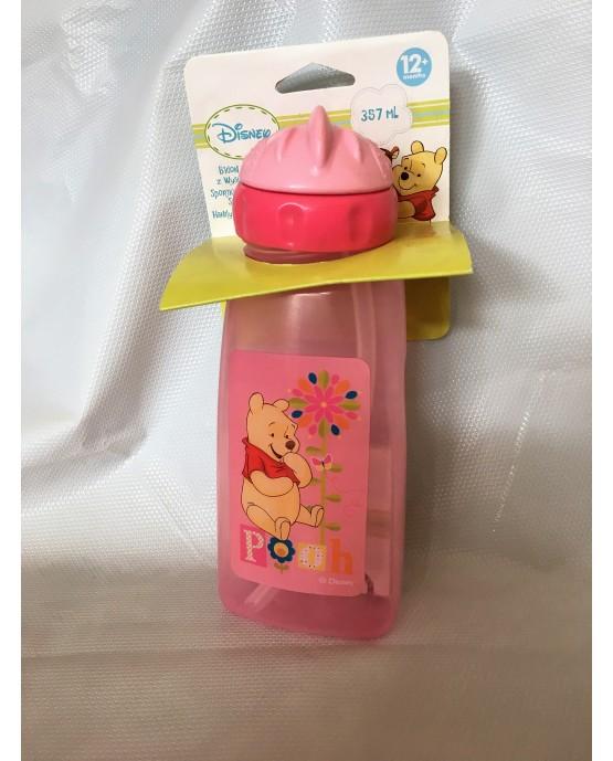 Plast. fľaša Macko Pu - ružová 357 ml