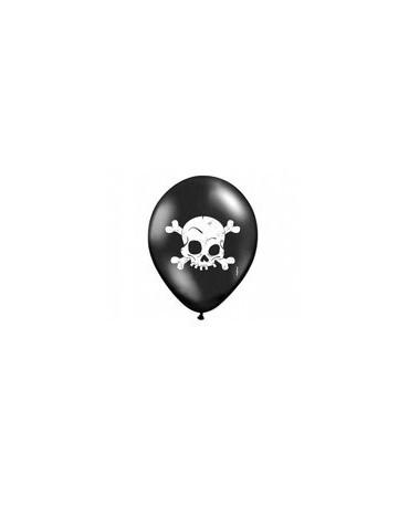 Latexové balóny čierne- lebka 30cm 10ks