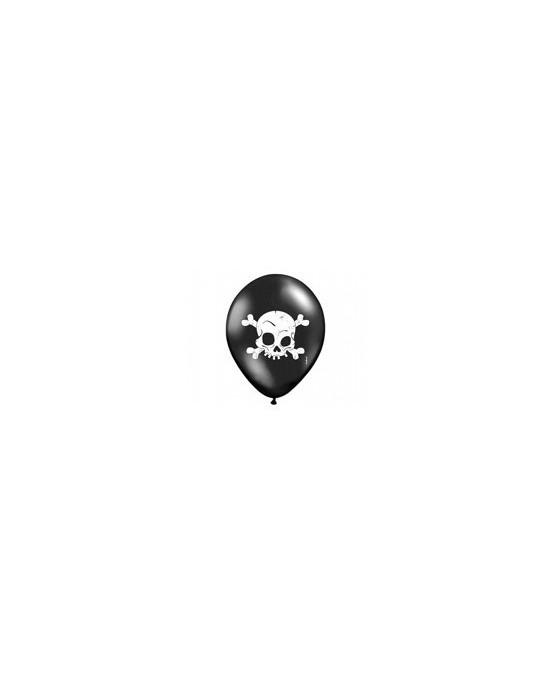 Latexové balóniky Lebka- čierne 10ks 37cm/P45