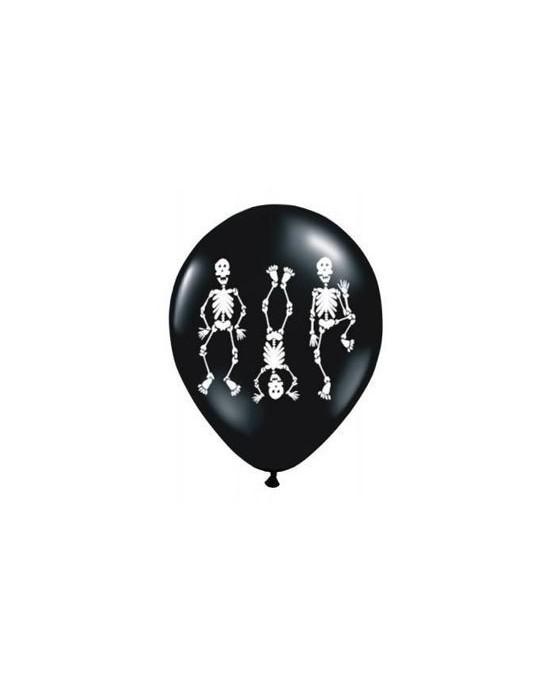 Latexové balóniky Kostry- čierne 10ks 37cm/P45