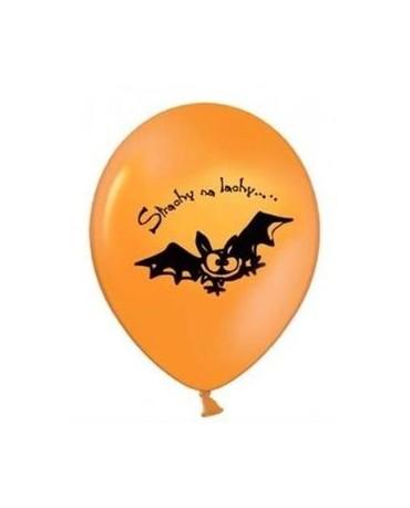 Latexové balóniky s motívom Netopier- oranžové 10ks 37cm/P44