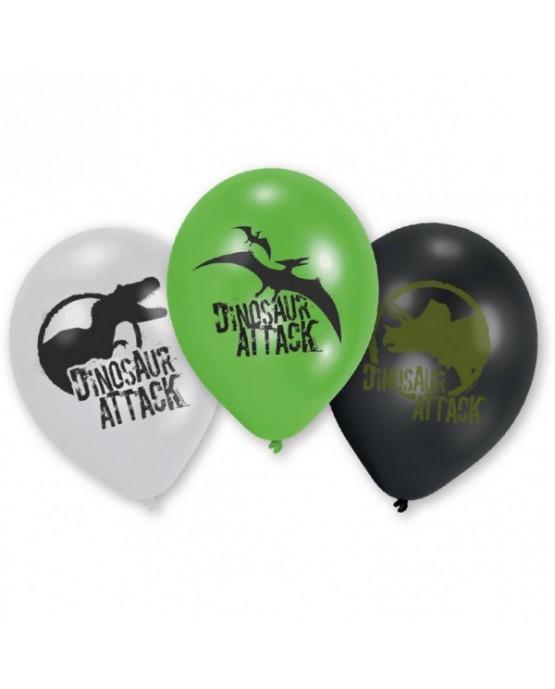 """Latex. bal. Dinosaur Attack 9"""" 6ks"""