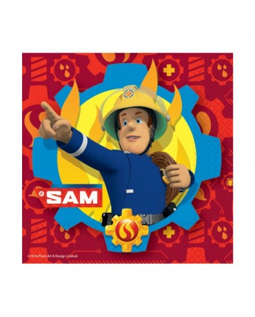 Servítky Požiarnik Sam 33cm 20ks
