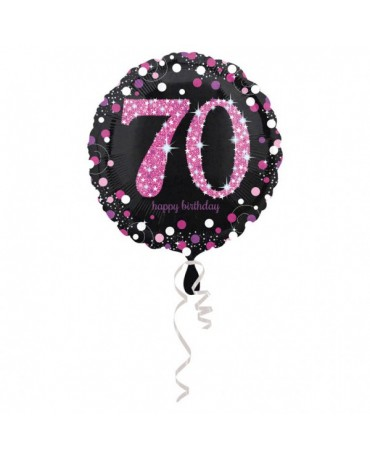 Fóliový balón číslo 70-ružový 43cm